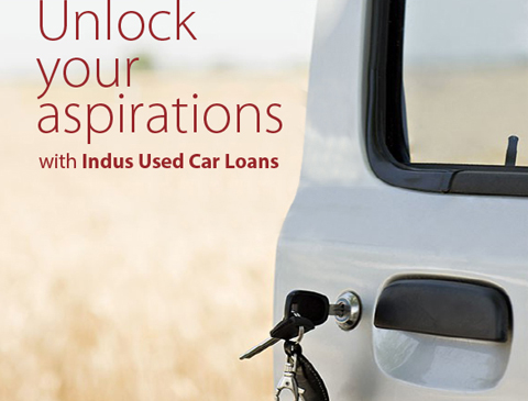 Ad for Used Car Loans from IndusInd Bank