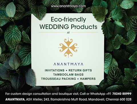 Print ad campaign for Anantmaya wedding store