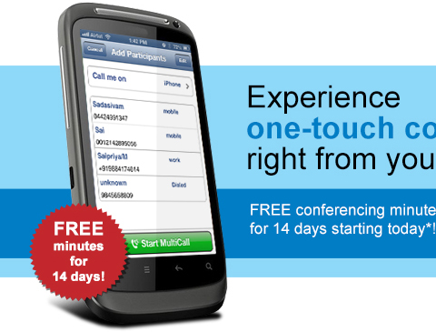 Digital email campaign for a leading conferencing solution provider