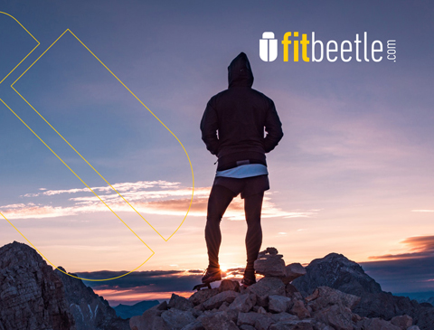 Website for FitBeetle, a fitness startup brand