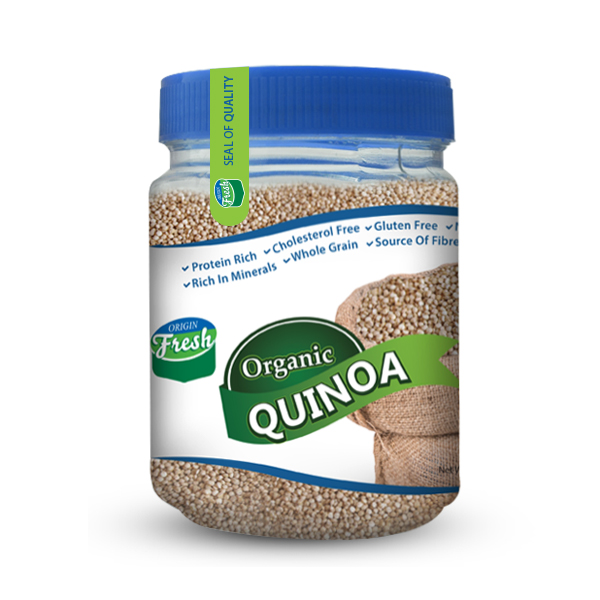Packaging design for a quinoa brand